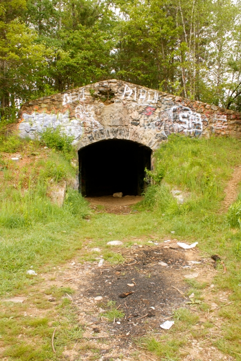 The root cellar at the former Rutland Prison Camp in Rutland, MA