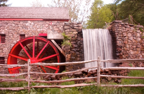 Another shot of the Grist Mill at Longfellow's Wayside Inn